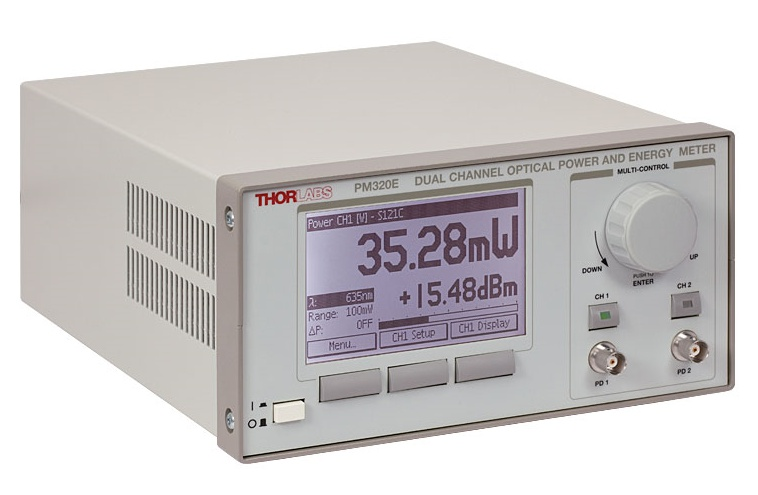 Optical Power and Energy Meter, Dual-Channel Benchtop Console
