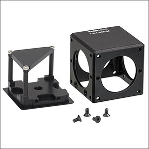 Compact Clamping 4-Port Prism/Mirror 30 mm Cage Cube
