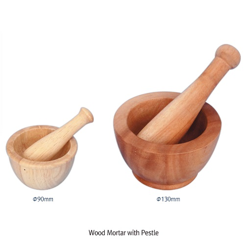 Wood Mortar with Pestle, 천연 목재 몰탈