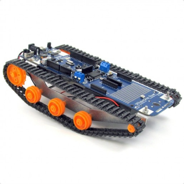 DFRobotShop Rover V2 - Arduino Compatible Tracked Robot (Basic Kit)