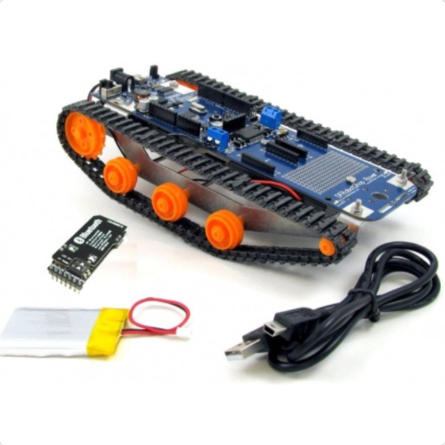 DFRobotShop Rover V2 - Arduino Compatible Tracked Robot (Bluetooth Kit)