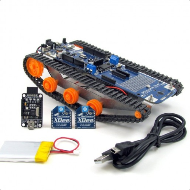 DFRobotShop Rover V2 - Arduino Compatible Tracked Robot (XBee Kit)