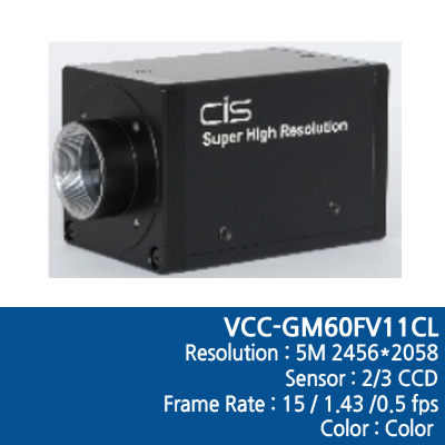 [VCC-GM60FV11CL] Camera Link
