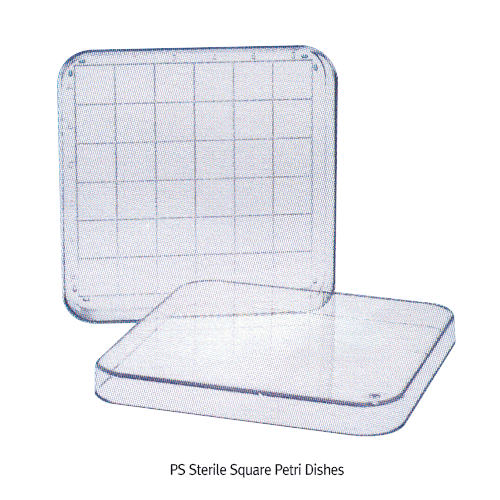 PS Sterile Square Petri Dishes