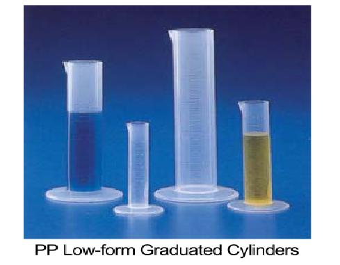 PP Low-form Graduated Cylinders, B-Class